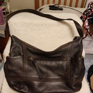 The Sak Dark Brown Leather Handbag